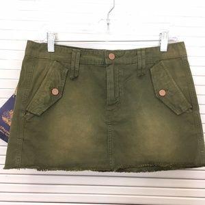 Chip & Pepper Mini Cargo Skirt Green Khaki 28